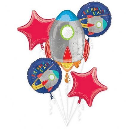 Blast Off Birthday Helium Balloon Bouquet